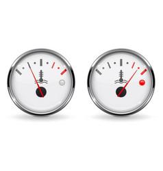 Temperature car gauges low and high temperature vector
