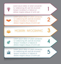 template infographic horizontal white strips on vector image