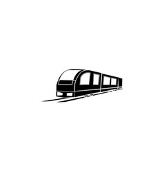 train icon black on white background vector image