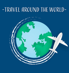 travel background with airplane aerial view vector image