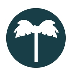 Tree palm silhouette icon vector