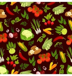 Vegetables decorative seamless pattern vector image