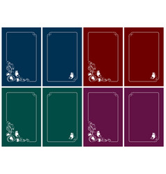 vertical greeting cards with floral design vector image