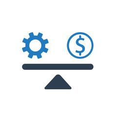Work balance icon vector