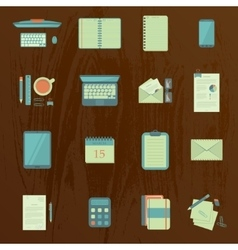 Work table icons vector image