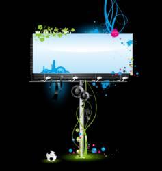 blank billboard vector image vector image