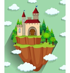 Castle building on the mountain vector image