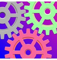 gear box mechanism vector image