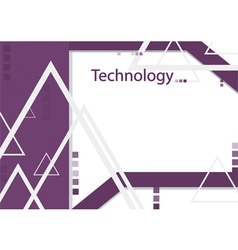 Modern geometrical abstract technology purple vector image vector image