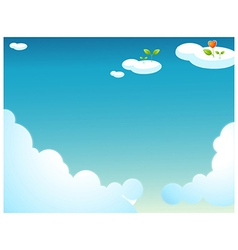 plants on clouds vector image vector image