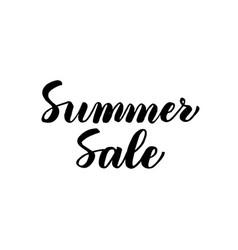 summer sale handwritten lettering vector image vector image
