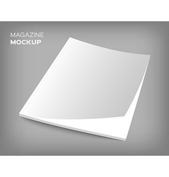 brochure cover mockup on gray vector image vector image