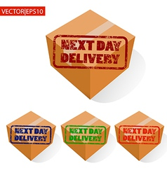 delivery box vector image vector image