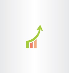 growth chart icon design vector image