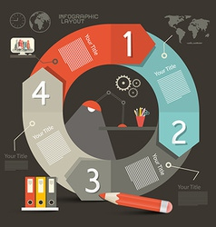 Infographics template - layout with lamp - cogs vector