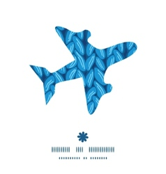 Knit sewater fabric horizontal texture airplane vector