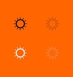 sun black and white set icon vector image vector image