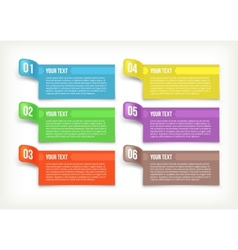 Text and banner paper vector image vector image