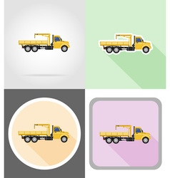 truck flat icons 12 vector image vector image