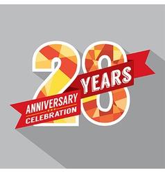 28th Years Anniversary Celebration Design vector image