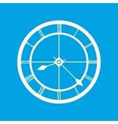 Clock white icon vector