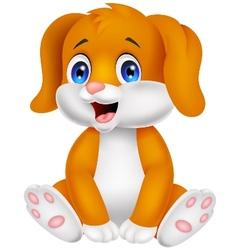 Cute baby dog cartoon vector image vector image