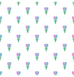Tulips pattern cartoon style vector image