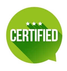 Certified sign vector image