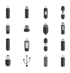 Icons flash drive vector image vector image