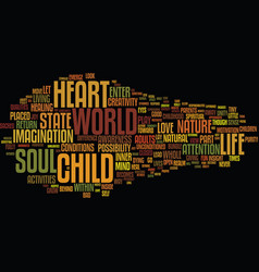 the nature of soul text background word cloud vector image