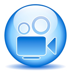 Video camera button vector image