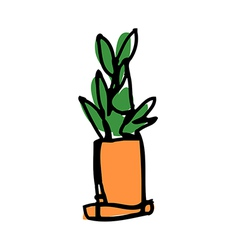 A plant is placed vector