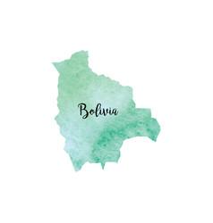 Abstract bolivia map vector