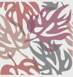 abstract leaves on a seamless pattern wallpaper vector image