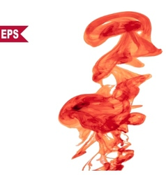 abstract red cloud Ink swirling in water vector image