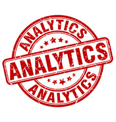 Analytics red grunge stamp vector