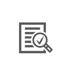 audit icon on white background vector image