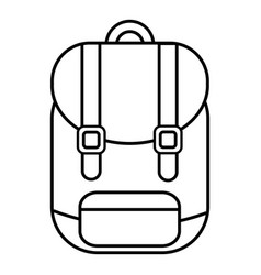 Backpack icon outline line style vector