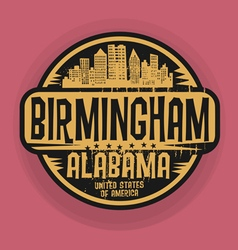 Birmingham Alabama stamp vector