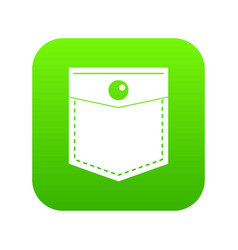 black pocket symbol icon digital green vector image