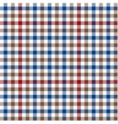 blue red brown checkered plaid vector image