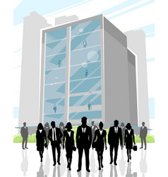 business center and people vector image