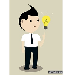 Businessman get the idea vector image