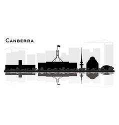 Canberra australia city skyline silhouette vector
