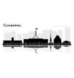 Canberra australia city skyline silhouette with vector