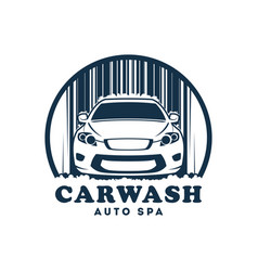 car wash service icon with replaceable text vector image