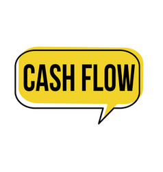 cash flow speech bubble vector image