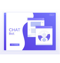 chat interface application with dialogue window vector image