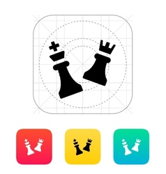 Chess attack icon vector