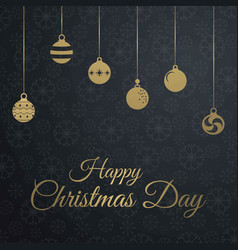 Chrismtas card with dark pattern background vector